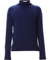 Benetton Pull en laine à col roulé - bleu