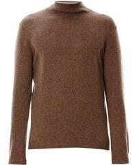 Benetton Pull en laine à col roulé - marron clair