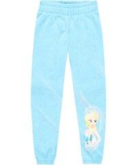 Disney Die Eiskönigin Jogginghose hellblau in Größe 104 für Mädchen aus 60 % Baumwolle 40 % Polyester