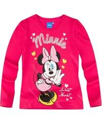 Disney Minnie Langarmshirt rot in Größe 92 für Mädchen aus 100% Baumwolle
