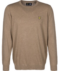 Lyle & Scott Crew Neck Cotton Merino pull en laine brown marl