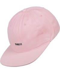 Obey Contorted 6 Panel Snapback pink