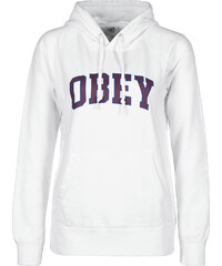 Obey Learning W sweat à capuche white