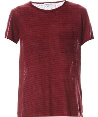 Gat Rimon Isaz - T-Shirt aus Leinen - bordeauxrot