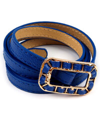 Dámský pásek se sponou - Královská modrá univerzal