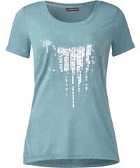 Street One Shirt mit Pailletten Amanda - stone jade, Damen