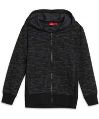 Rossi Jungen Sweatjacke Strickjacke schwarz aus Baumwolle