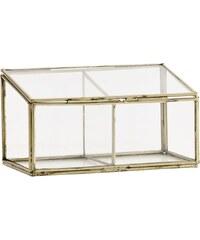 Madam Stoltz Skleněný box s mosaznými rámečky