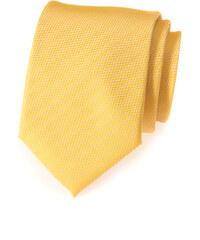 Avantgard Žlutá vroubkovaná kravata_