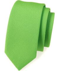 Avantgard Zelená slim kravata bez vzoru_