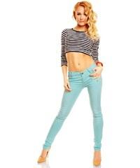 D. Cherry Dámské módní kalhoty slim, džíny, skiny mentolové