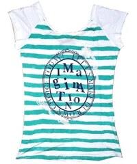 GLO-STORY Dámské trendy tričko bez rukávu Imagination zelené