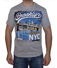 STE. STARLEE Pánské tričko s krátkým rukávem Brooklyn světle šedé