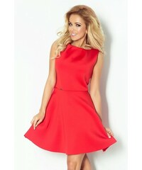 NUMOCO Luxusní dámské společenské a plesové šaty červené bez rukávu NOMOCO 78-3