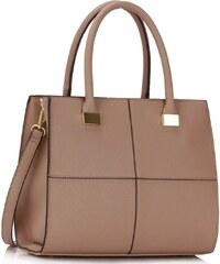 L&S Fashion Krásná kabelka LS153M béžová