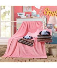 Dětská deka s polštářem TRAVEL DOG 110x160 cm s povlakem 32x32 cm Mybesthome vzor pejsek
