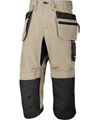 """Kalhoty LiteWork+ ¾ """"Pirate"""" s PK béžové 44 - Béžová - Snickers Workwear"""
