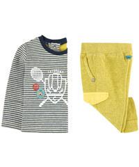 Catimini Gestreiftes T-Shirt und Moltonhose