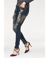 BLUE MONKEY Damen Blue Monkey 5-Pocket-Jeans Penny blau 25,26,27,28,29,30,31,32