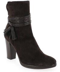 Boots Femme Progetto en Cuir velours Marron