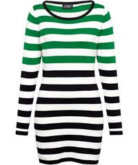 Pulovr AMY VERMONT zelená-černá-bílá