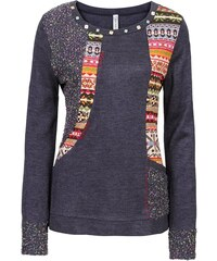 RAINBOW Pletený svetr s výraznými aplikacemi bonprix