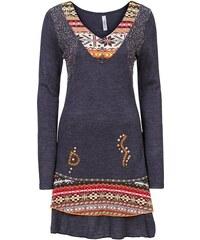 RAINBOW Pletené šaty v etno vzhledu bonprix