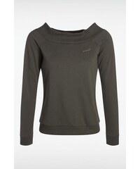 T-shirt femme uni avec broche coeur Vert Coton - Femme Taille L - Bonobo