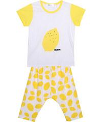 Lesara Kinder-Pyjama mit Zitronen-Print - 92