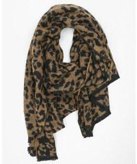 Pimkie Plaid-Schal mit Panther-Motiv