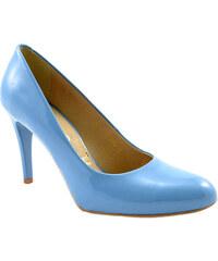 Dámské kožené modré lodičky 38