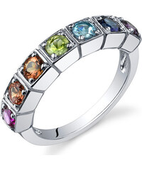 Eppi Stříbrný prsten plný drahokamů Lass