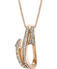 Eppi Stříbrný pozlacený náhrdelník s bílými topazy Laveda