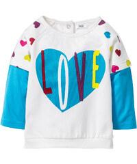 bpc bonprix collection Sweatshirt bébé en coton bio, T. 56/62-104/110 blanc enfant - bonprix
