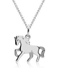 Unique Jewelry Pferdekette für Kinder aus 925 Silber KP0005-SL