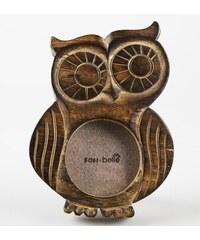 Sass & Belle Dřevěný fotorámeček sova malý