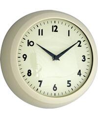 DCGS Retro nástěnné hodiny slonovinová kost