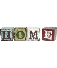 DCGS Vintage dřevěné kostky HOME