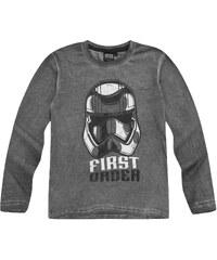 Star Wars-The Clone Wars Langarmshirt grau in Größe 116 für Jungen aus 100 % Baumwolle