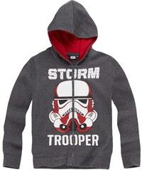 Star Wars-The Clone Wars Sweatjacke grau in Größe 116 für Jungen aus 60 % Baumwolle 40 % Polyester