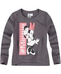 Disney Minnie Sweatshirt grau in Größe 104 für Mädchen aus 60 % Baumwolle 40 % Polyester