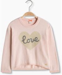 Esprit Bavlněný pulovr se srdcem a pajetkami
