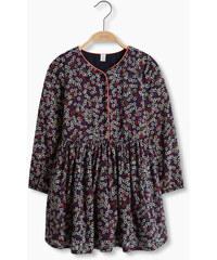 Esprit Květované šaty s kontrastní paspulkou