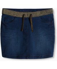Esprit Tepláková džínová sukně, třpytivý pas