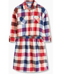 Esprit Kárované šaty z flanelu, 100% bavlna