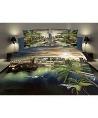 Povlečení HOLIDAY 3D set 4 ks, 1x 160x200 cm, 2x povlak 70x80 cm, prostěradlo 180x225 cm MyBestHome