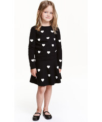 H&M Pletená sukně s výšivkami