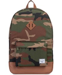 Batoh Herschel Supply Heritage Woodland Camo/Tan Synthetic Leather