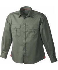 Pánská košile Travel - Olive S
