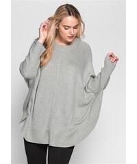 Damen Casual Poncho-Pullover SHEEGO CASUAL grau 40/42,44/46,48/50,52/54,56/58